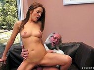 Old man's cartridges are full to fuck ginger whore young enough to be his stepdaughter