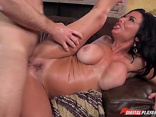 Hot fuck with stepdaughter's modest boyfriend drives cougar Veronica Avluv to multiple orgasms