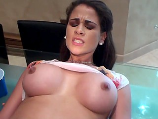 Blowjob and pussyfuck are all the Latina possessor of big boobies needs at the moment