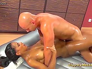 Arab fulfills any whim of the horny visitor who wants to cum in her home massage salon