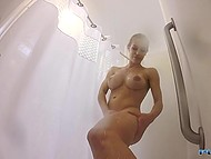 Tempting Nicole Aniston takes a shower and it's a crime not to watch her and not to jerk off