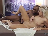 Beautiful blonde and the black boyfriend love each other very much, so they have amazing sex