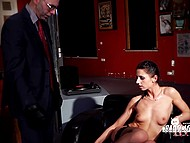 German girl is ready to take part in the BDSM scene, but the prudent man wants her to sign a contract first
