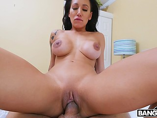Instead of having fun with friends busty belle Amia Miley has quickie with excited boyfriend